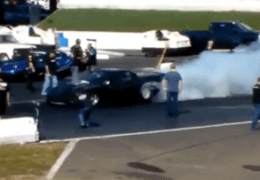 Corvette Burnouts at Shakedown