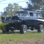 Just your average 57' Chevy Wagon 4x4