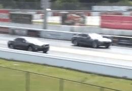 Tesla Drag Races Camaro