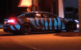 Tesla with Electric Paint