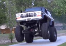 Bronco rides wheelies