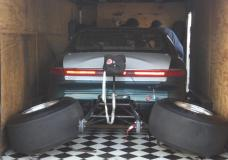 Back Halved Mark VIII loaded into the trailer at Shakedown at E-town