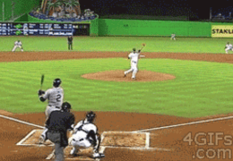 Not normally a Baseball fan but this GIF is to good!