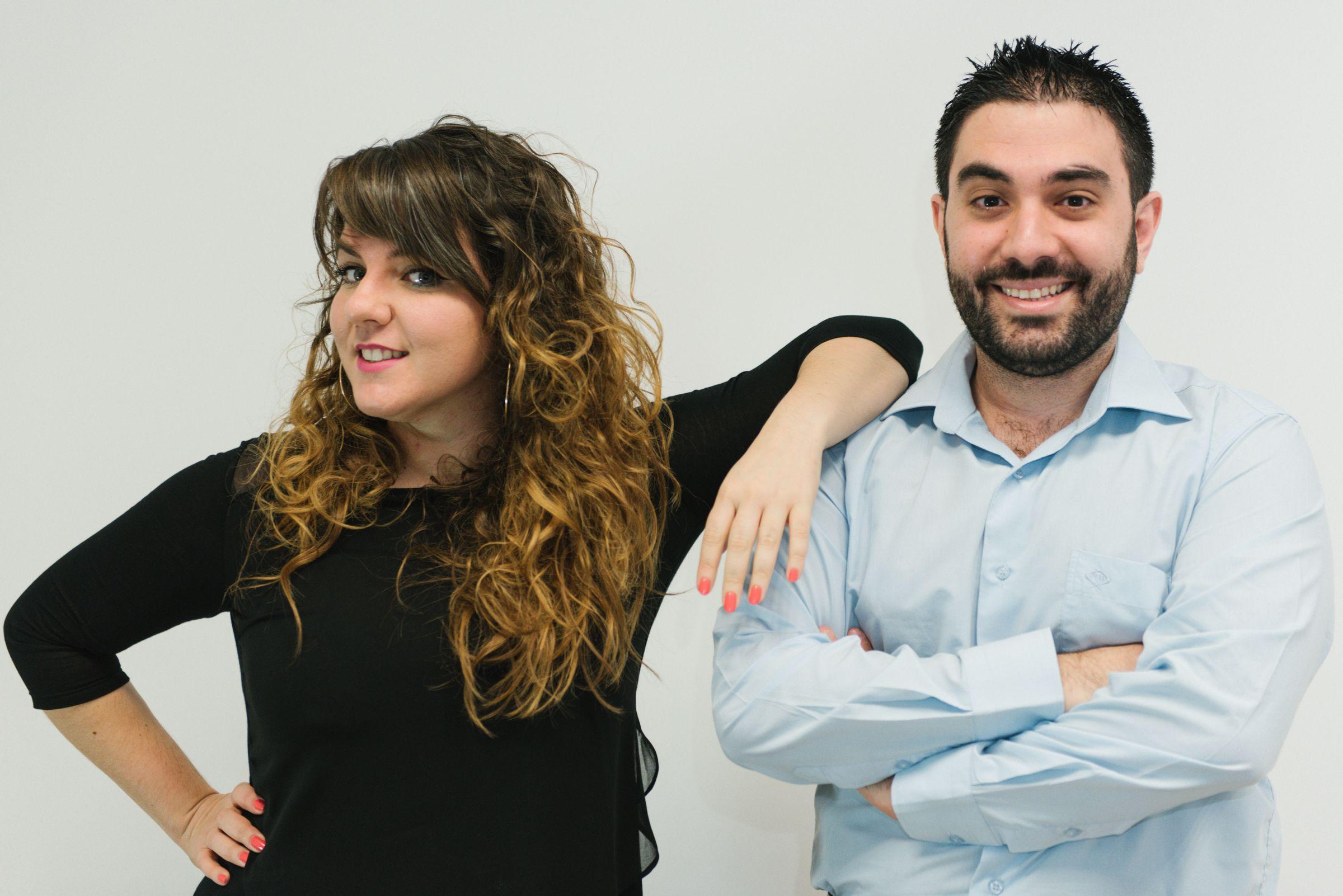 De izquierda a derecha: Miriam Blanco y Manuel Camargo - Estrategia Social Media y Dirección General respectivamente -