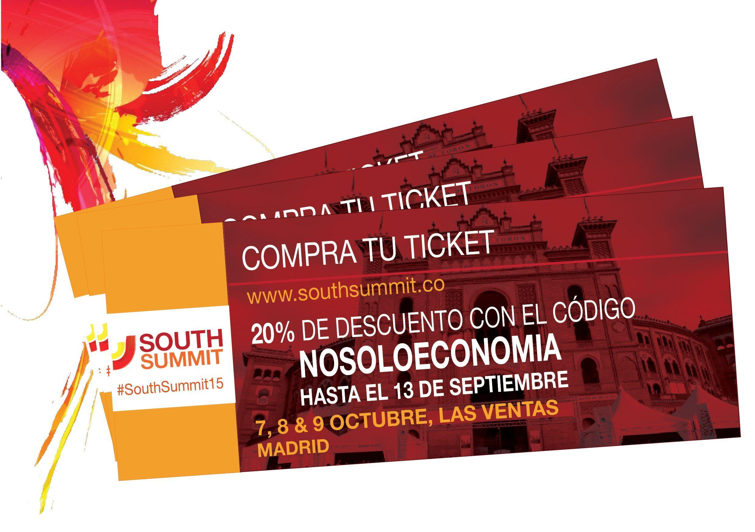 South Summit y NoSoloEconomia te ofrecen un 20% de descuento en tu entrada