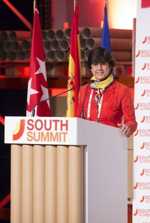 Maria Benjumea, fundadora de Spain Startup, en el momento de su intervención