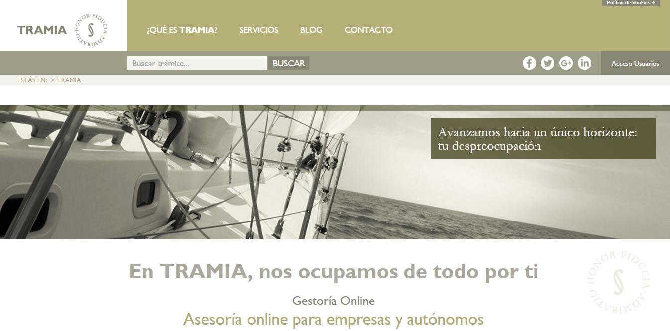 Tramia, gestoría online poara autónomos y empresas