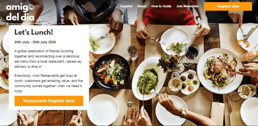 Amigo del Día: Movimiento para el Apoyo a Bares y Restaurantes