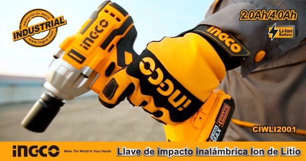 Llave de Impacto batería INGCO CIWLI2001