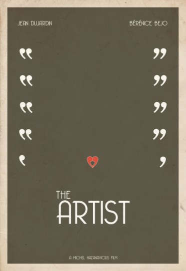 The Artist movie poster, movie poster, minimalist movie poster, The Artist poster, 2012 Best Picture nominees, Hunter Langston, Jean Dujardin, Bérénice Bejo,