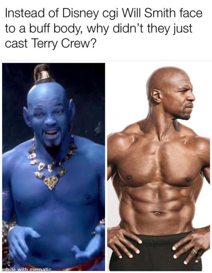 El Internet reacciona al primer vistazo del Genio de 'Aladdin' 1