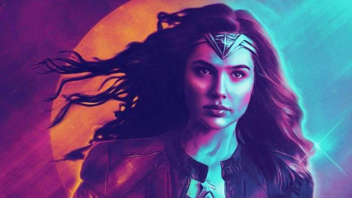 Wonder Woman Retrowave (Póster)