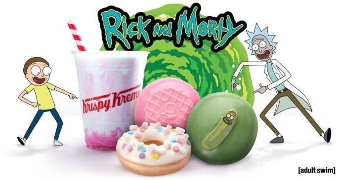 Krispy Kreme lanza donas especiales de 'Rick and Morty' 1