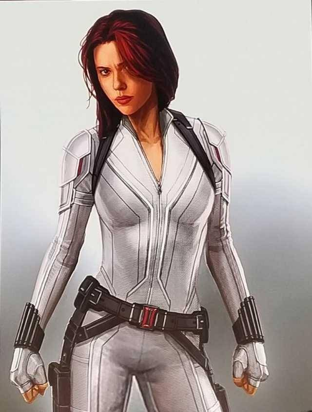 Scarlett Johannson white suit (Black Widow)