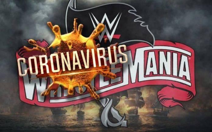 Wrestlemania 36 en riesgo por Coronavirus (Póster)