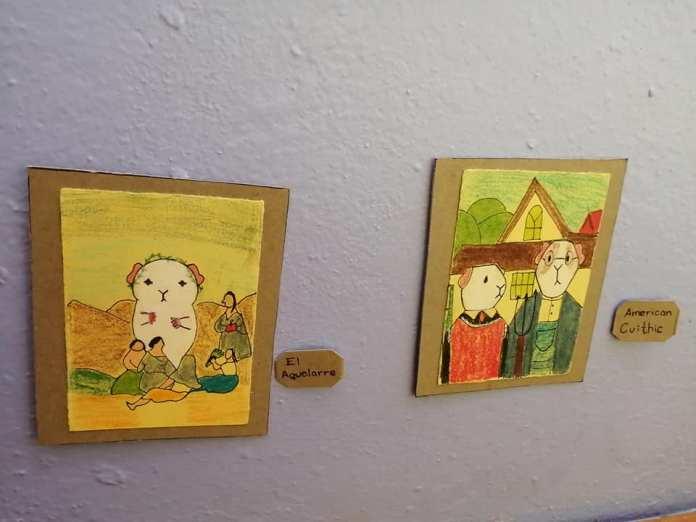 Exposición temporal Cui 20: una usuaria de Facebook recrea pinturas icónicas para sus cuyos 6