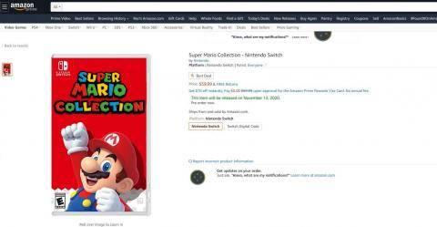Super Mario Collection se filtra en Amazon 2