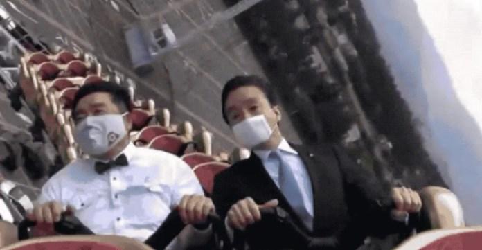 Por coronavirus, se prohíbe gritar en montañas rusas japonesas 1