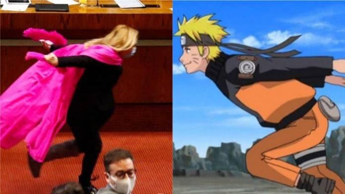 WTF: Diputada chilena corre como Naruto para celebrar aprobación de reforma constitucional 4