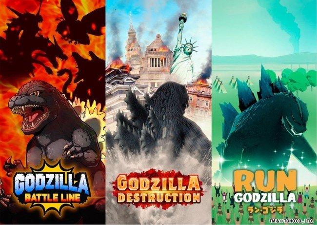 Godzilla obtiene 3 juegos nuevos para teléfonos 1