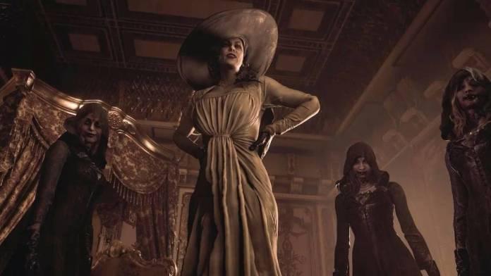 Resident Evil Village: Usan promocionales tamaño real de Lady Dimitrescu en Asia.
