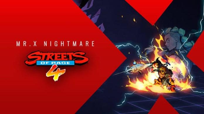 Streets of rage 4: Mr. X NIGHTMARE así será el nuevo DLC ¿estas listo?