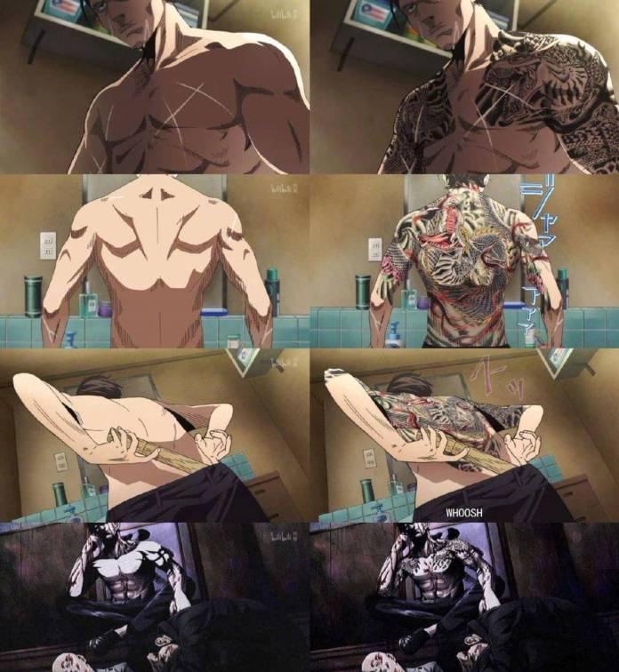 """El anime """"De Yakuza a amo de casa"""", es censurado en China por tatuajes 1"""