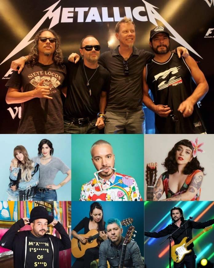 Metallica, J Balvin, Mon Laferte