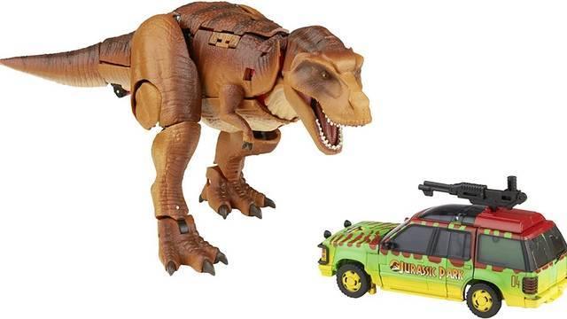 Transformers y Jurassic Park anuncian colaboración en un nuevo set de figuras coleccionables. 1