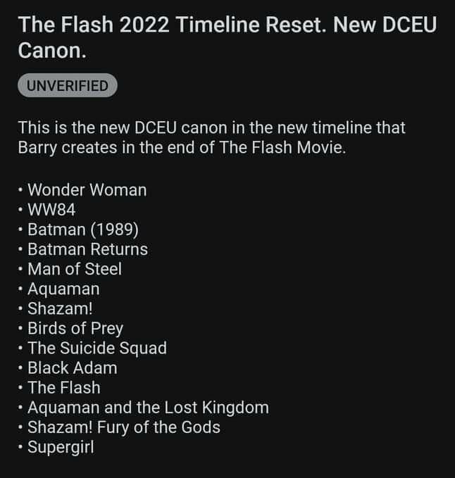 The Flash, Timeline DC Films