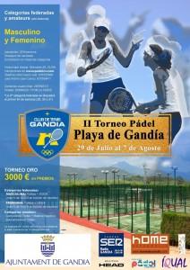 II Torneo de Pádel Playa Gandía. Categoria ORO