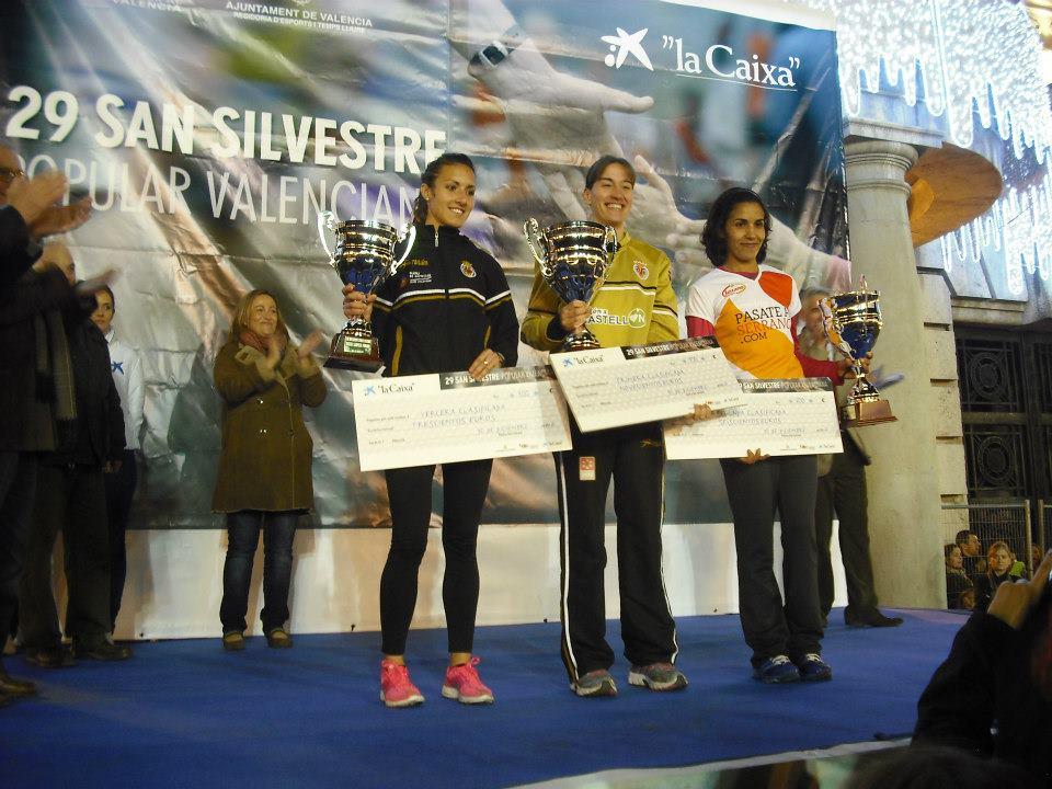 Isabel Checa, vence en la San Silvestre 2012 de Valencia