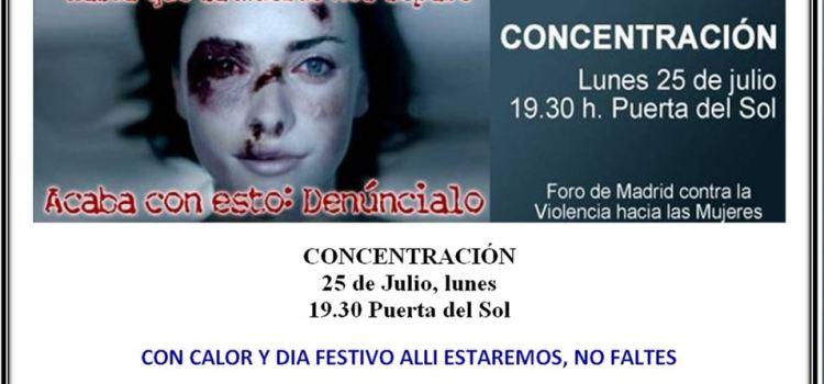 Concentración 25 de julio