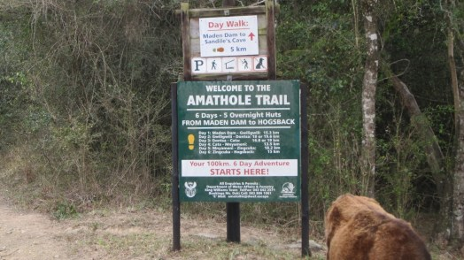 Trail Head sign in 2016