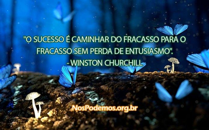 """""""O SUCESSO É CAMINHAR DO FRACASSO PARA O FRACASSO SEM PERDA DE ENTUSIASMO"""". --WINSTON CHURCHILL"""