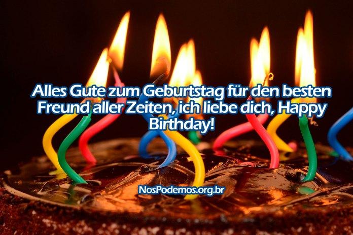 Alles Gute zum Geburtstag für den besten Freund aller Zeiten, ich liebe dich, Happy Birthday!