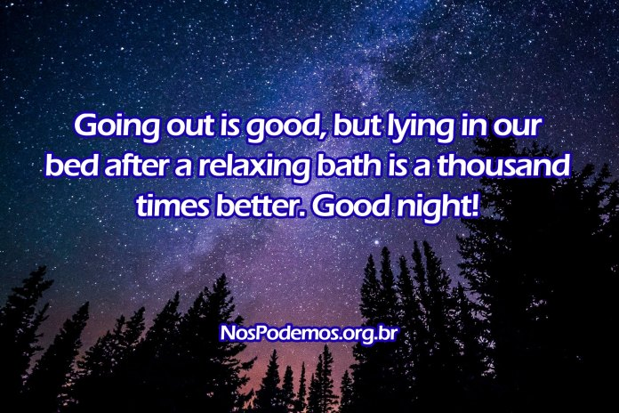 Going out is good, but lying in our bed after a relaxing bath is a thousand times better. Good night!