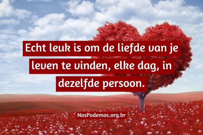 Echt leuk is om de liefde van je leven te vinden, elke dag, in dezelfde persoon.