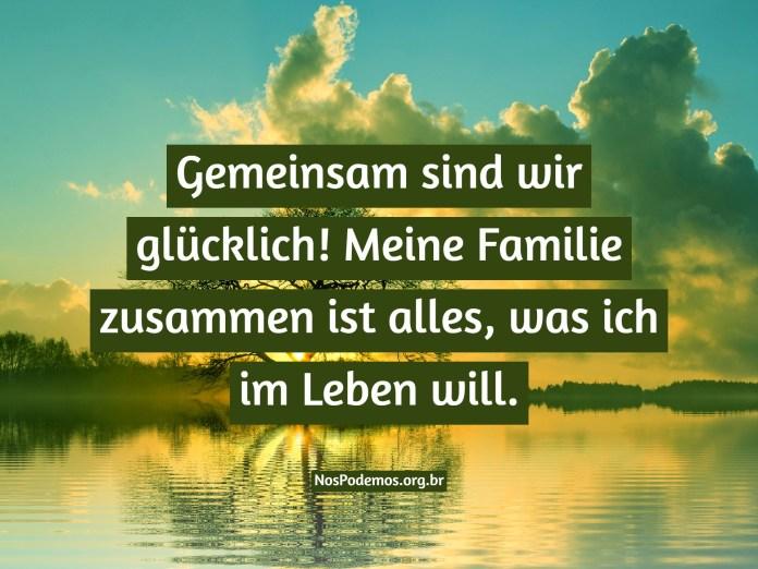 Gemeinsam sind wir glücklich! Meine Familie zusammen ist alles, was ich im Leben will.