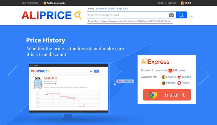 Aliprice.com - sprawdzanie cen na AliExpress - nospoon.pl