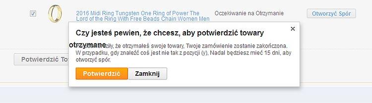 AliExpress upewnia się, czy chcemy potwierdzić zamówienie - NoSpoon.pl