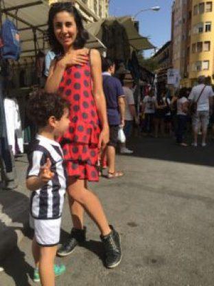 EL Rastro Madri com criança