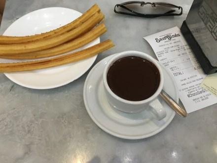 Madri onde comer churros espanhol tradicional