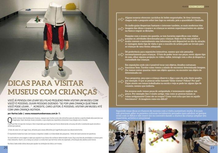 Revista Viagem com Filhos Museus com Crianças