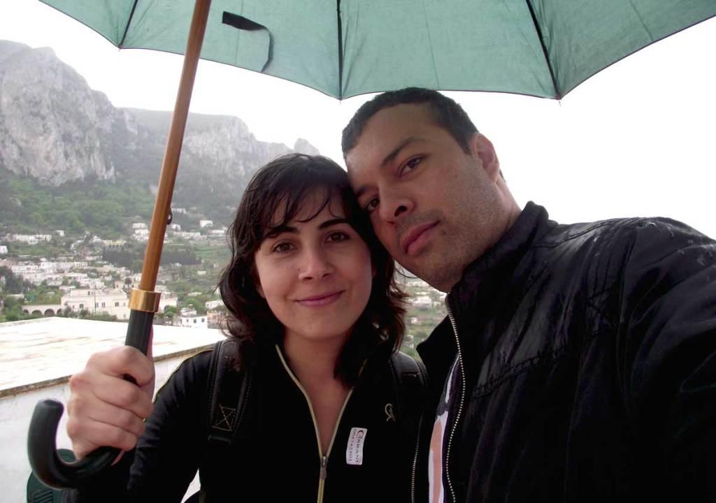 Capri Italia chuva