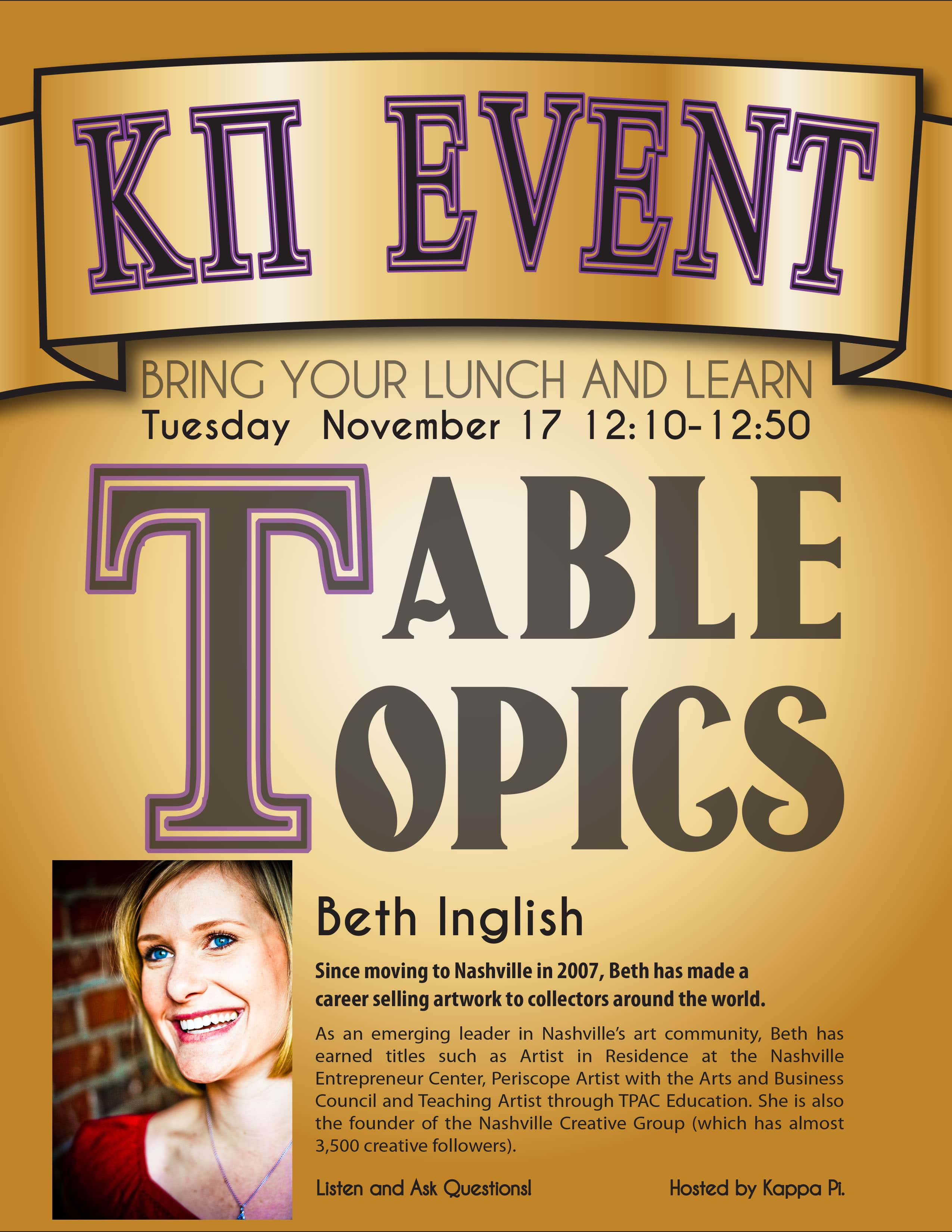 table topics college