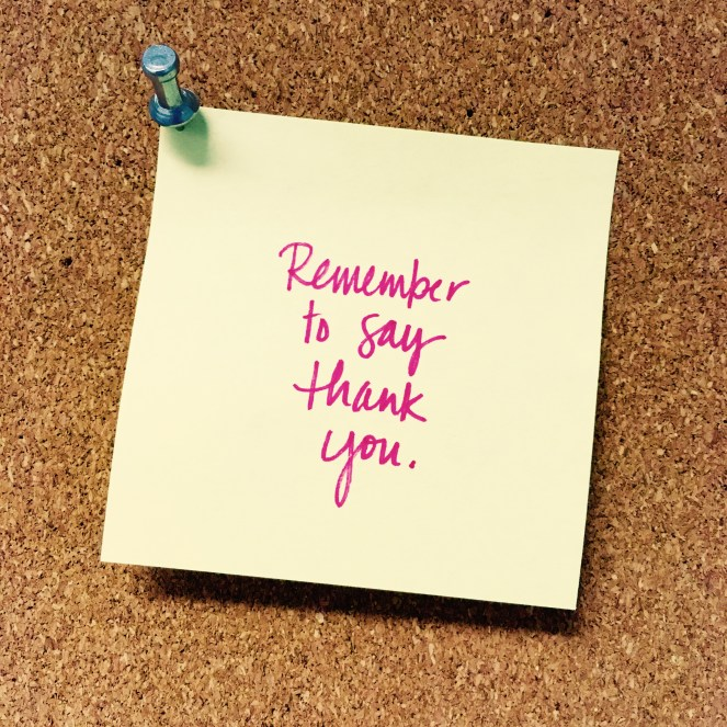 Remember Reminder #7: Say Thank You | The Nostalgia Dairies Blog