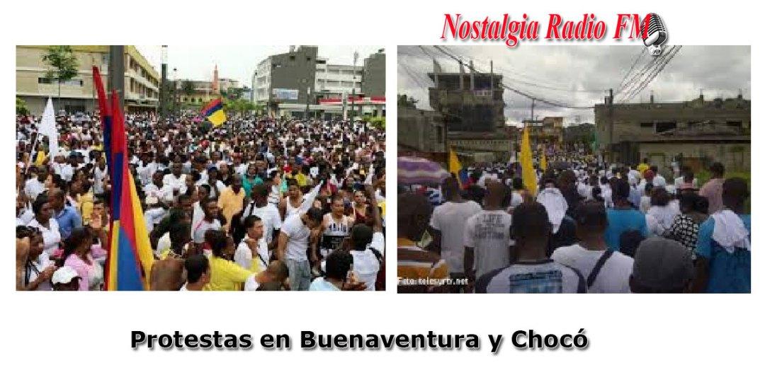 protestas en buenaventura y choco