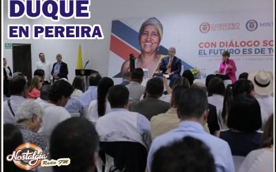 EN PEREIRA…DUQUE SE COMPROMETE CON EL GRAN PARQUE SAN MATEO