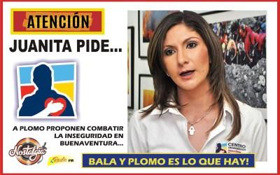 JUANITA CATAÑO DIPUTADA DEL CD…PROPONE COMBATIR LA INSEGURIDAD EN BUENAVENTURA, A PUNTA DE PLOMO